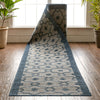 Sol Custom Size Indoor/Outdoor Runner Lattice Trellis Blue 31 Inch Width x Choose Your Length Hallway Flat-Weave Runner Rug