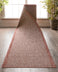 Odin Custom Size Indoor/Outdoor Runner Solid & Striped Coral 31 Inch Width x Choose Your Length Hallway Flat-Weave Runner Rug