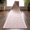 Odin Custom Size Indoor/Outdoor Runner Solid & Striped Blush 31 Inch Width x Choose Your Length Hallway Flat-Weave Runner Rug