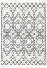 Chantico Moroccan Lattice Grey Shag Rug