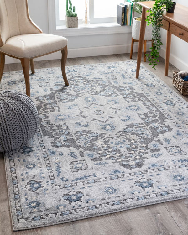 Georgina Grey Modern Medallion Rug