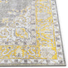 Tarifa Vintage Bohemian Medallion Yellow Machine Washable Rug By Chill Rugs