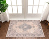 Tarifa Vintage Bohemian Medallion Beige Machine Washable Rug By Chill Rugs