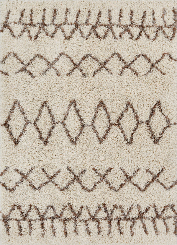 "Parley Natural Modern Moroccan Shag Rug By Chill Rugs 3'11"" x 5'3"""
