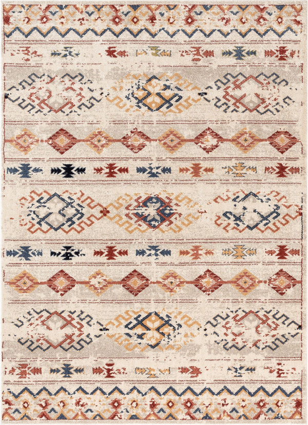 Xander Red Vintage Modern Tribal Rug