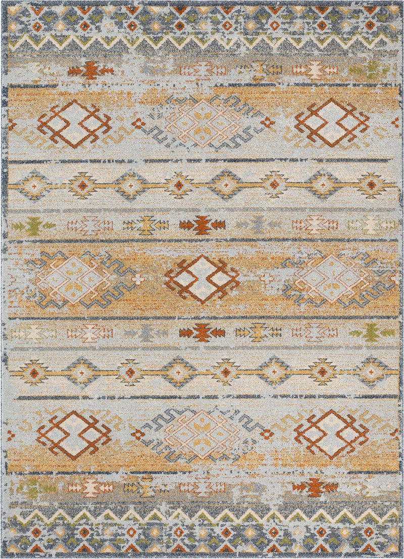 Alu Cream Vintage Modern Tribal Rug