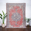 "Dafina Red & Blue Oriental Floral Medallion One-of-a-Kind Handmade Wool Area Rug 6'7"" x 9'7"""