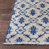 "Eliza Blue & Beige Persian Geometric Lattice Pattern One-of-a-Kind Handmade Wool Area Rug 6'3"" x 8'9"""