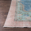 "Florence Blue Oriental Medallion One-of-a-Kind Handmade Wool Area Rug 6'4"" x 9'3"""