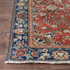 "Adyn Red & Navy Oriental Floral Botanical Border Pattern One-of-a-Kind Handmade Wool Area Rug 3'7"" x 6'7"""