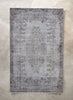 "Arius Grey Overdyed Medallion One-of-a-Kind Handmade Wool Area Rug 5'7"" x 8'10"""
