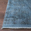 "Amory Light Blue Overdyed Medallion One-of-a-Kind Handmade Wool Area Rug 6'2"" x 9'8"""