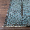 "Barakat Light Blue Overdyed Medallion One-of-a-Kind Handmade Wool Area Rug 6'8"" x 10'5"""