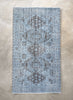 "Bansi Light Blue Overdyed Medallion One-of-a-Kind Handmade Wool Area Rug 5'5"" x 9'7"""