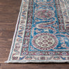 "Abla Rust & Blue Oriental Medallion One-of-a-Kind Handmade Wool Area Rug 8'6"" x 12'5"""