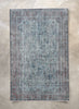 "Calla Blue Overdyed Medallion One-of-a-Kind Handmade Wool Area Rug 6'3"" x 9'8"""