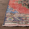 "Kane Red & Purple Oriental Botanical Border Pattern One-of-a-Kind Handmade Wool Area Rug 2'7"" x 11'7"" Runner"
