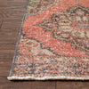 "Deejahy Burn Orange Oriental Botanical Border Pattern One-of-a-Kind Handmade Wool Area Rug 2'7"" x 12'2"" Runner"