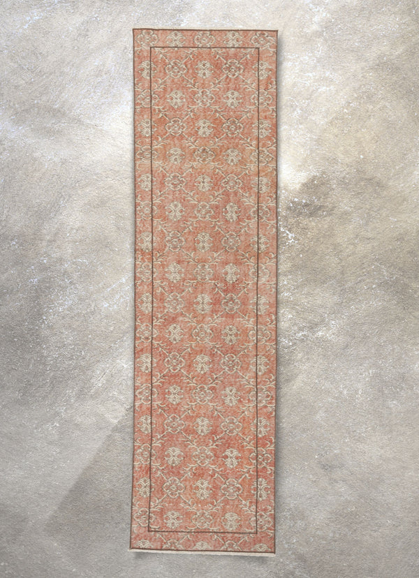 "Ayliza Red & Brown Persian Geometric Lattice Pattern One-of-a-Kind Handmade Wool Area Rug 2'7"" x 9'7"" Runner"