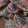 "Cato Red & Navy Blue Oriental Botanical Border Pattern One-of-a-Kind Handmade Wool Area Rug 2'8"" x 12'6"" Runner"
