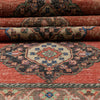 "Obize Burnt Orange Oriental Botanical Border Pattern One-of-a-Kind Handmade Wool Area Rug 2'9"" x 10'9"" Runner"