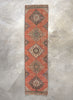 "Becka Burnt Orange Oriental Rustic Medallion One-of-a-Kind Handmade Wool Area Rug 2'9"" x 11'5"" Runner"