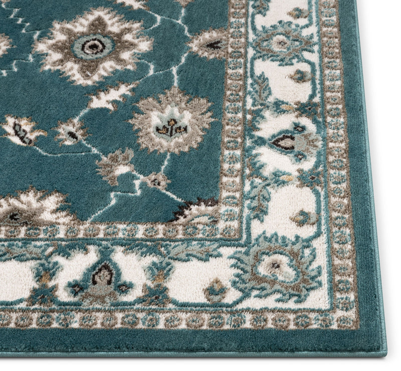 Celia Traditional Persian Oriental Blue High-Low Rug