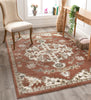 Iris Traditional Oriental Floral Brick High-Low Rug