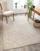 Clara Farmhouse Trellis Geometric Cream High-Low Rug