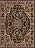 Nima Traditional Medallion Persian Black Rug