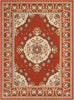 Malika Traditional Medallion Persian Floral Terracotta Rug