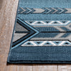 Dakota Tribal Aztec Southwestern Blue Rug