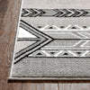 Dakota Tribal Aztec Southwestern Grey Rug
