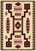 Cheyenne Tribal Geometric Medallion Ivory Rug