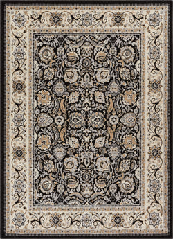 Tabriz Black Traditional Rug