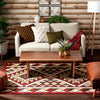Enola Tribal Geometric Trellis Red Rug