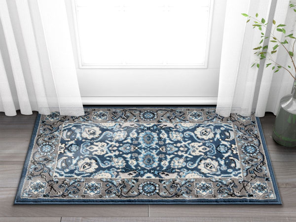 Tabriz Blue Traditional Rug