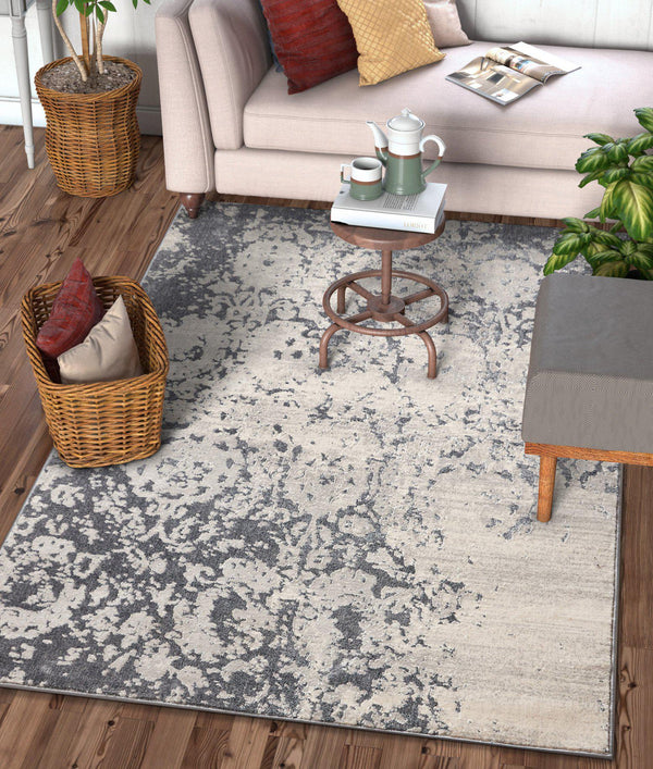 Ora Dark Grey Modern Rug