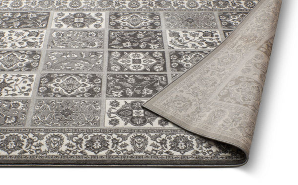Ornamental Grey Vintage Rug