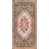 "Lateren Eclectic Floral Black-Blush Machine Washable Rug By Chill Rugs 7'7"" x 9'6"""