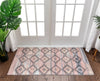 Trio Southwestern Geometric Blush Machine Washable Rug By Chill Rugs
