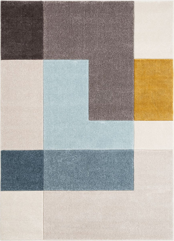 Constance Multi Contemporary Geometric Blocks Rug