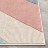 Alma Mid-Century Modern Geometric Triangle Pattern Multi Distressed High-Low Rug