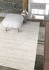 Contessa Ivory Modern Border Distressed Rug
