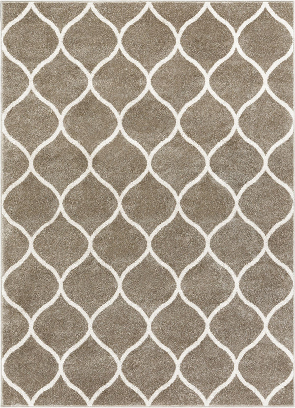 Ramon Grey Moroccan Lattice Ogee Rug