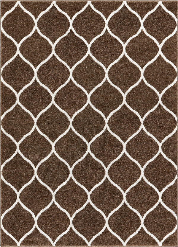 Ramon Brown Moroccan Lattice Ogee Rug