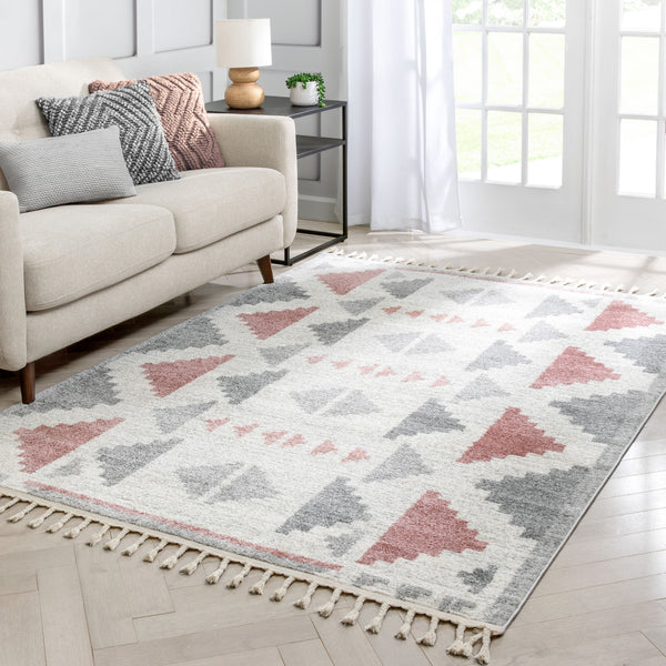 Ada Moroccan Tribal Geometric Blush Rug