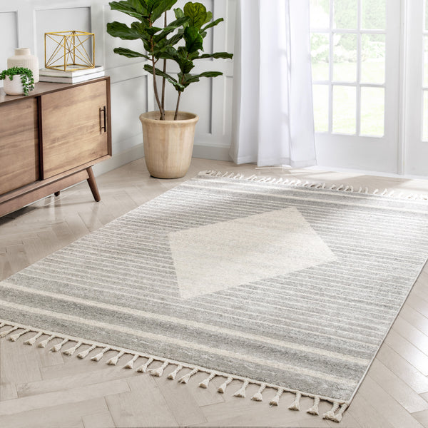 Josie Nordic Medallion Stripes Ivory Rug