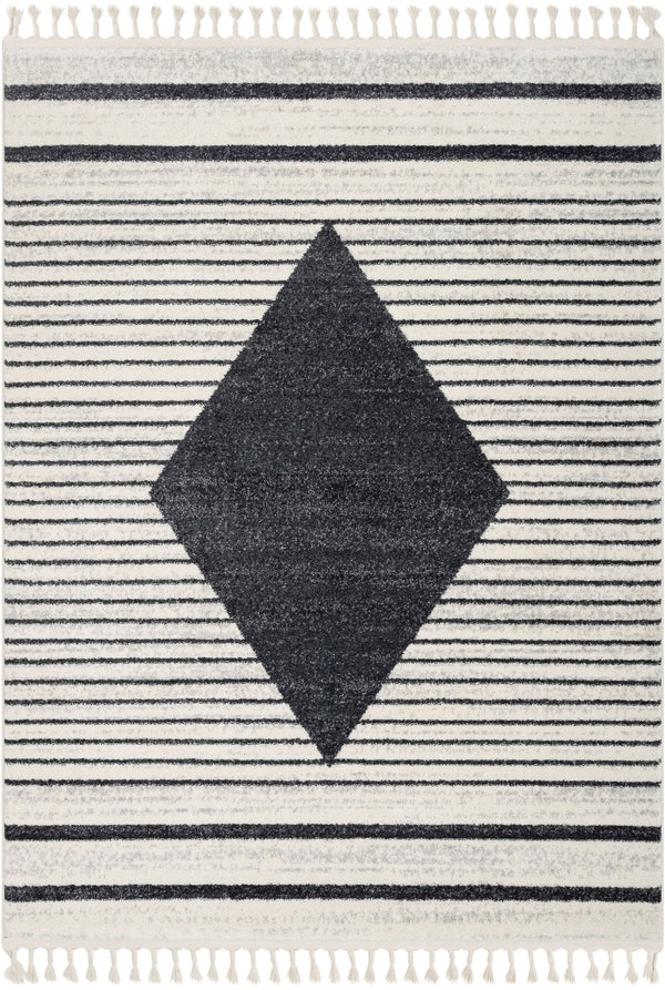 Josie Nordic Medallion Stripes Grey Rug