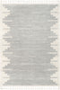 Carly Nordic Solid & Striped Grey Rug